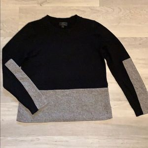 J Crew cashmere blend mixed media sweater. Size M